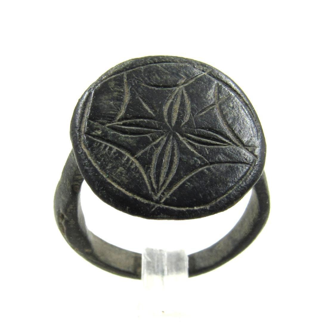 Medieval Crusaders Era Bronze Star of Bethlehem Ring