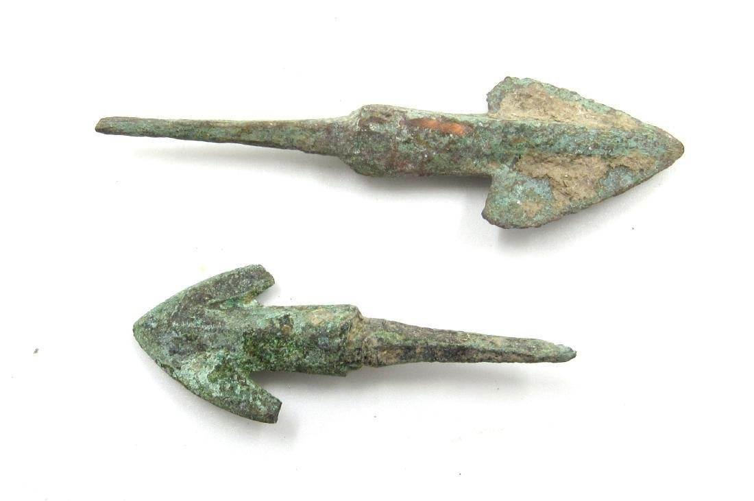 Ancient Greek Pair of Bronze Arrows