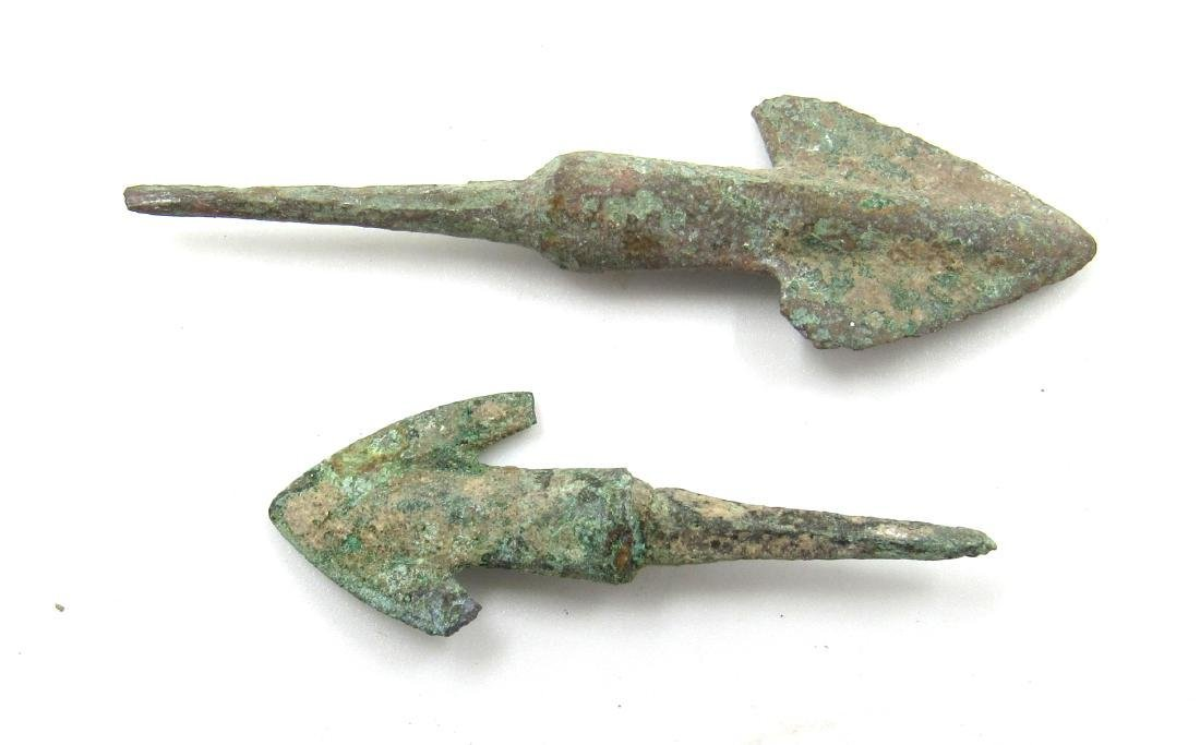 Ancient Greek Pair of Bronze Arrows - 2
