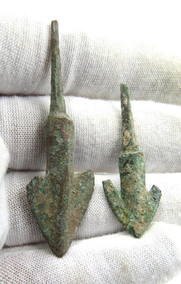 Ancient Greek Pair of Bronze Arrows - 3