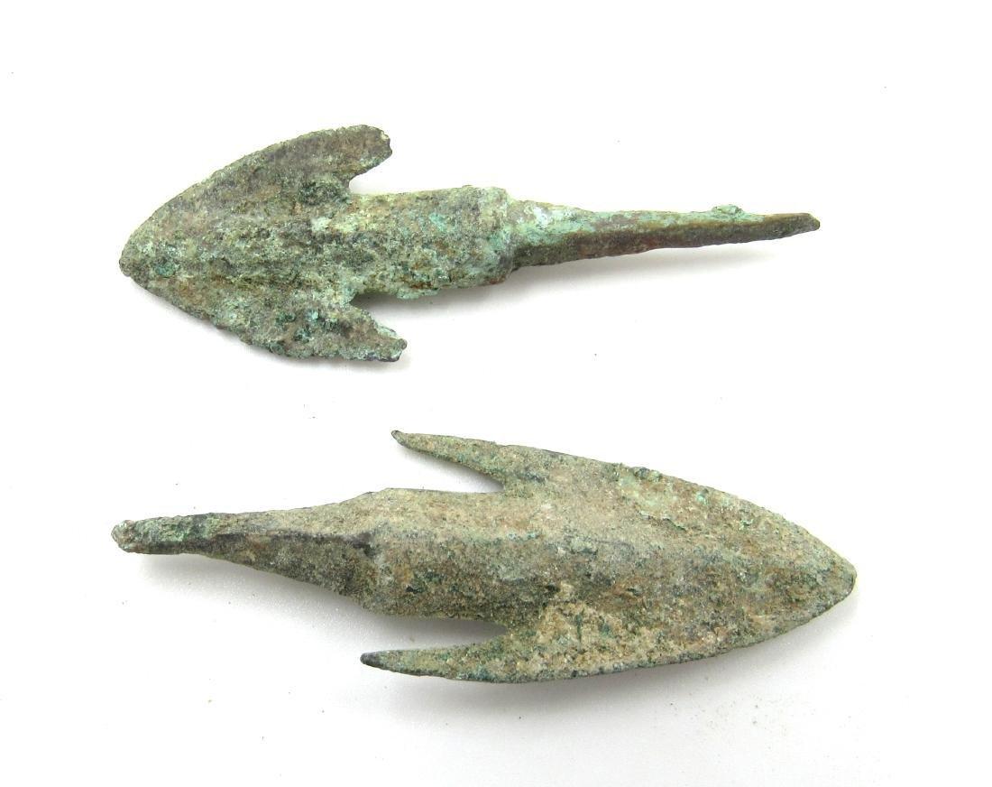 Ancient Greek Pair of Bronze Arrows