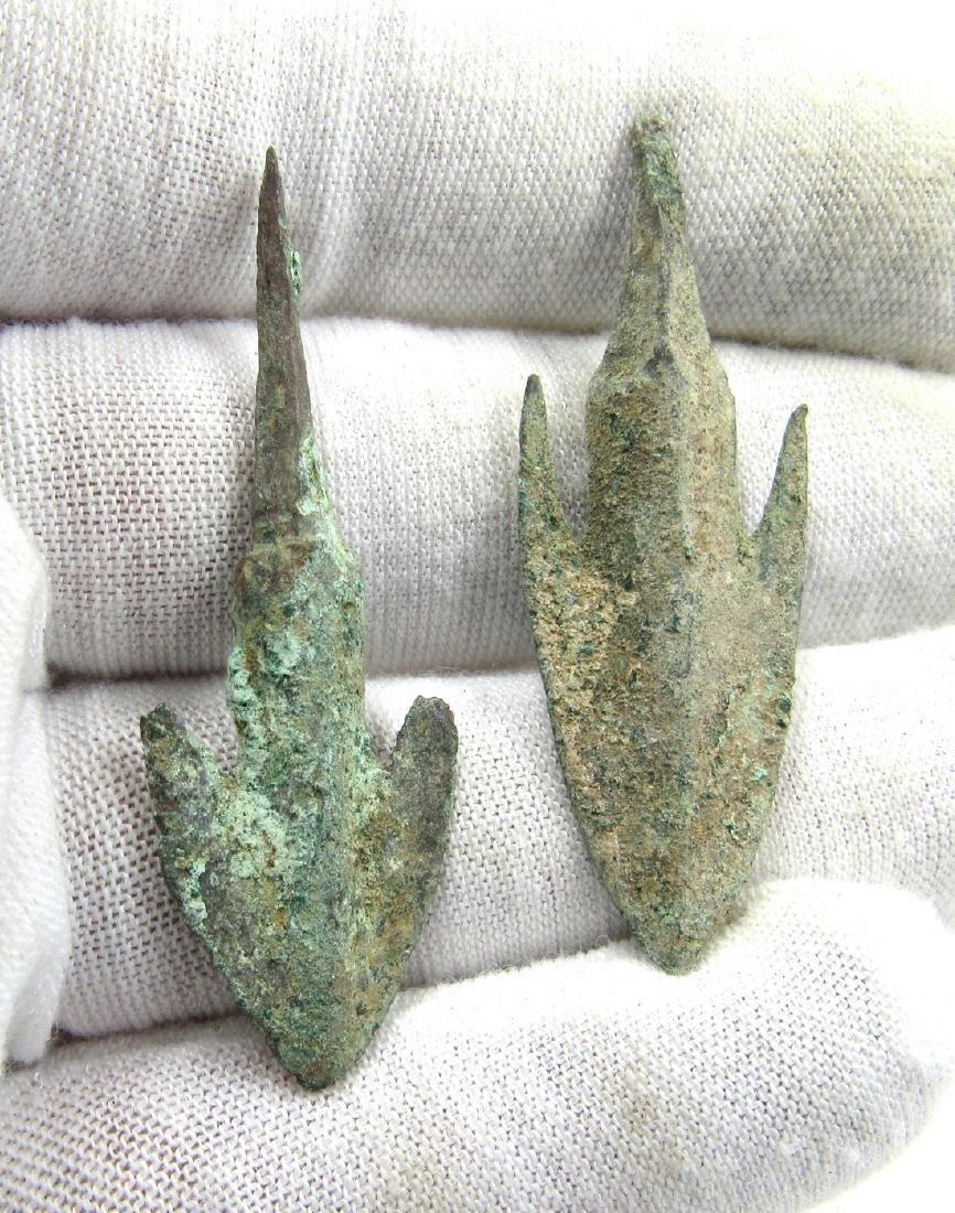 Ancient Greek Pair of Bronze Arrows - 3