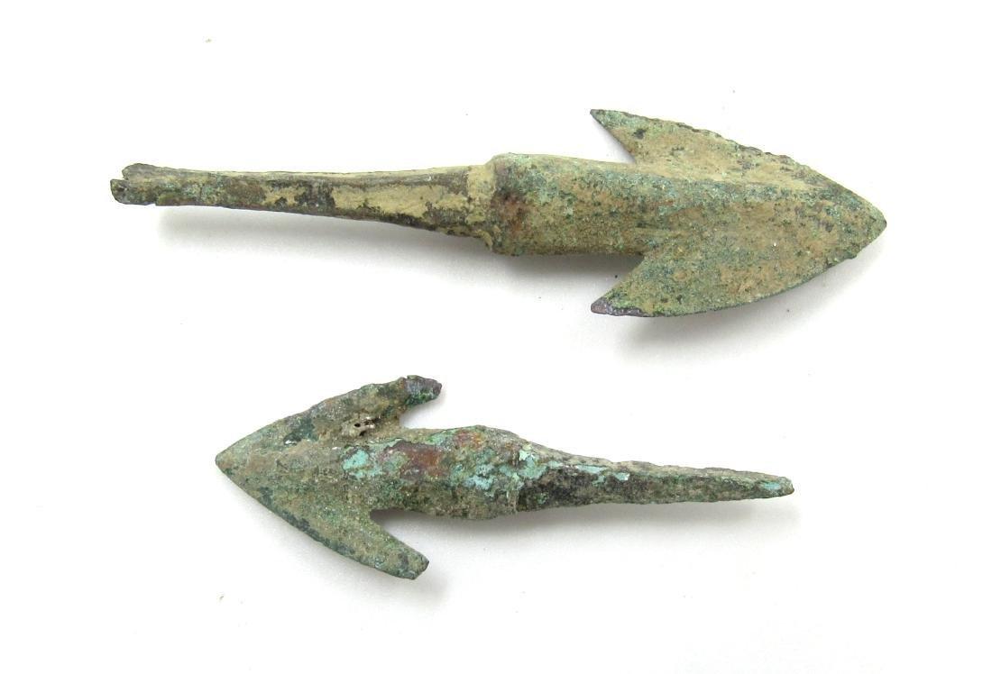 Ancient Greek Pair of Bronze Arrows - 2