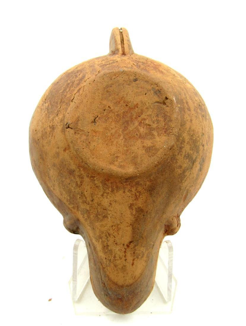 Ancient Roman Terracotta Oil Lamp with Erotic Scene - 3