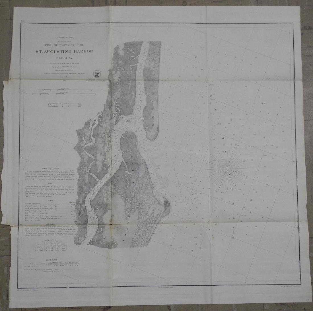 Preliminary Chart of St. Augustine Harbor Florida