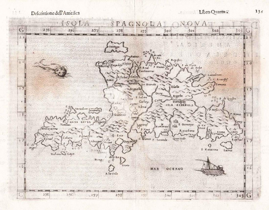 Ruscelli/Rosaccio: Hispaniola, 1599