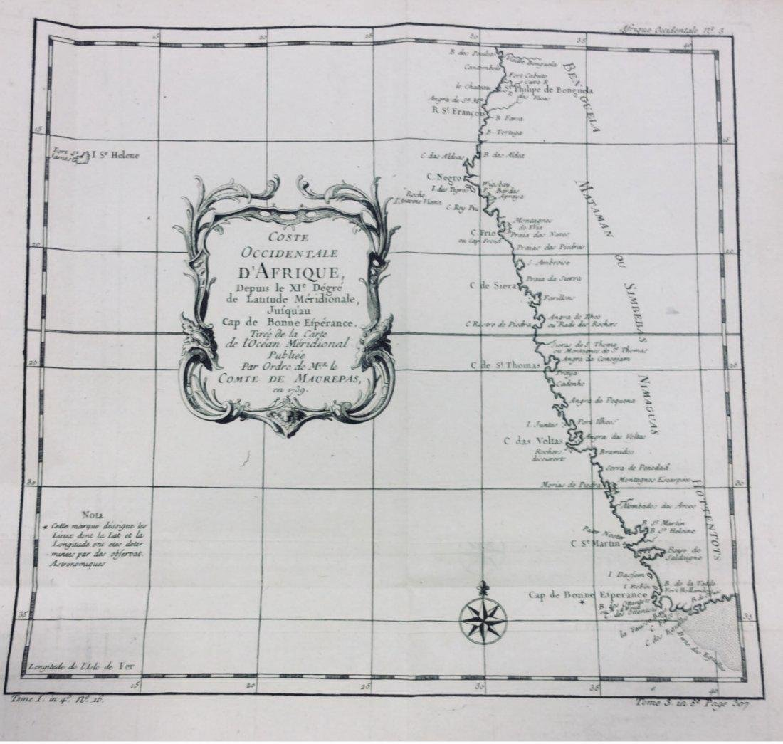 West coast of Africa by Bellin 1740-70's