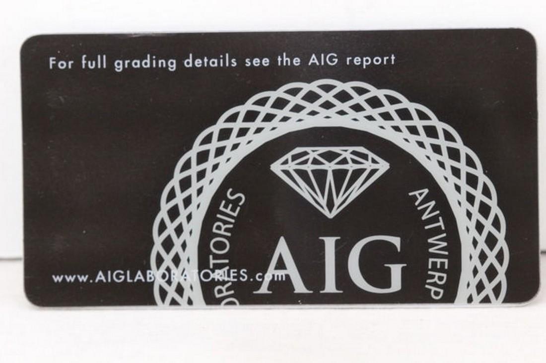 No Reserve AIG Antwerp Sealed - Ruby 0.61 ct - Dark Red - 4