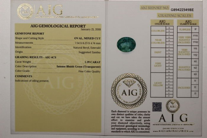 * NO RESERVE PRICE *  AIG Antwerp Sealed - Emerald - - 3