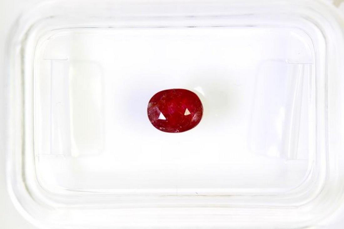 * NO RESERVE PRICE * -  Ruby - 0.62 ct - Deep Red - AIG