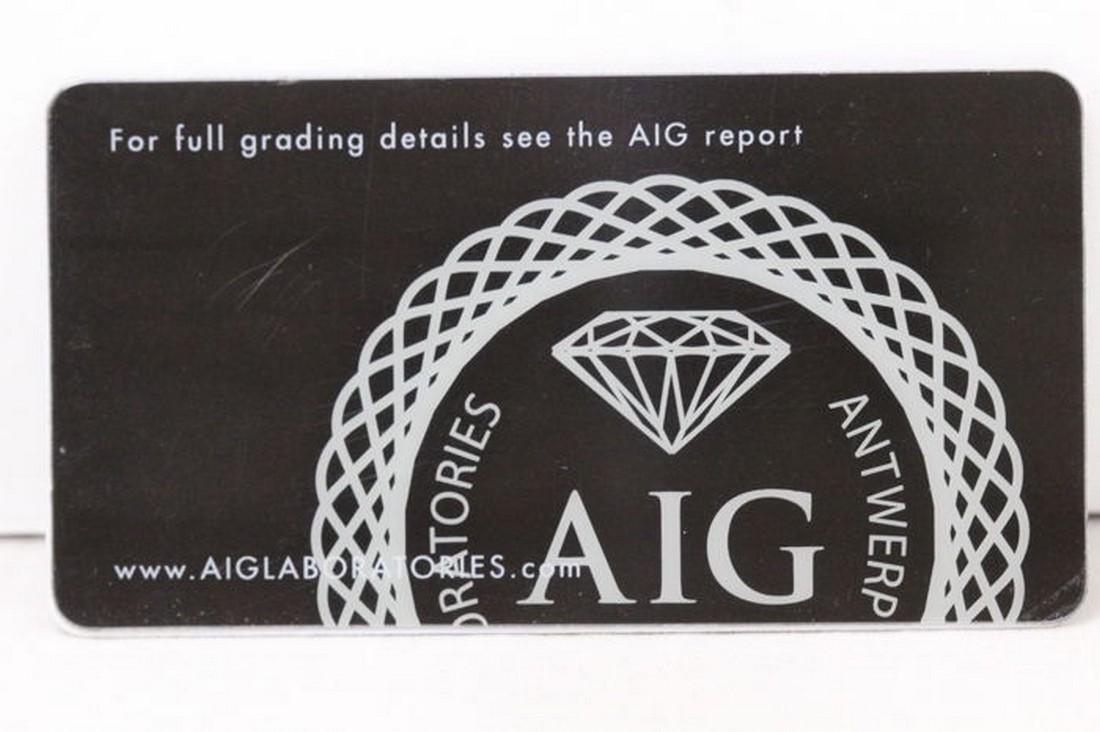 AIG Antwerp - Sapphire - 3.29 ct - Intense Blue - 4