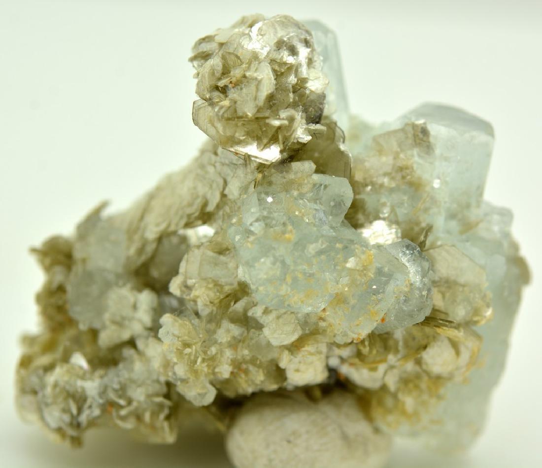 Natural Aquamarine Specimen Mica - 2