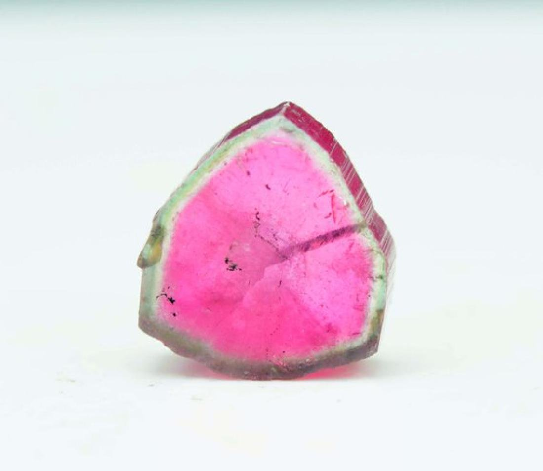 Perfectly Shaped Watermelon Tourmaline Slice from