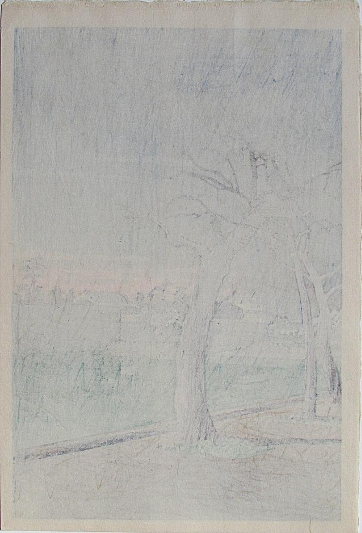 Kawase Hasui Woodblock Springtime Evening - 2