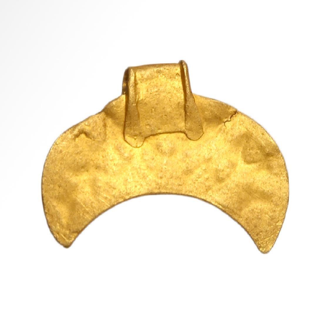 Viking Gold Lunar Pendant, c. 10th Century A.D. - 5