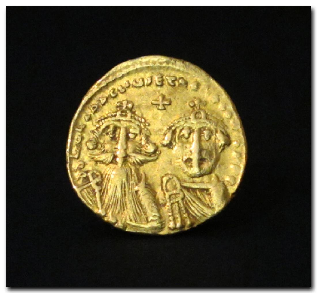 Constantinople, Byzantian Gold Solidus, Heraclius and