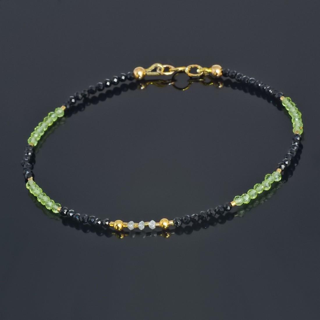 14K Sapphire and Emerald and Diamonds 0.2ctw Bracelet