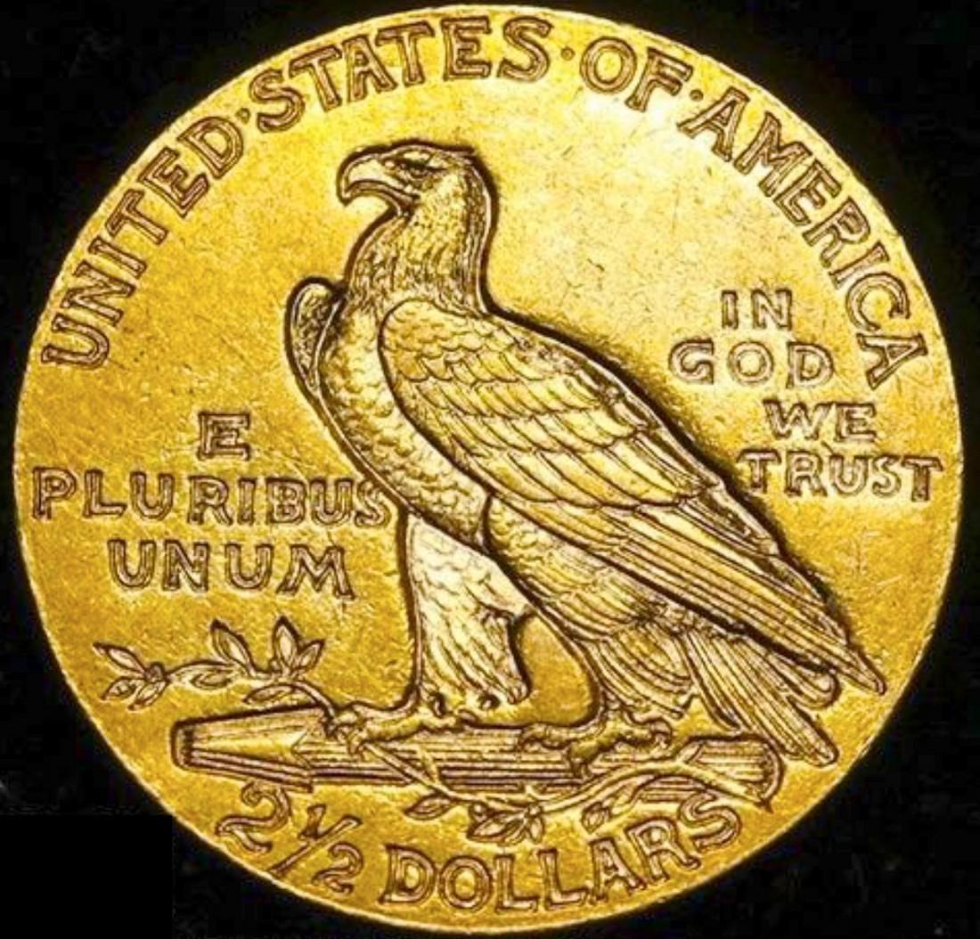 1911 Gold Quarter Eagle Striking Color. Beautiful - 2