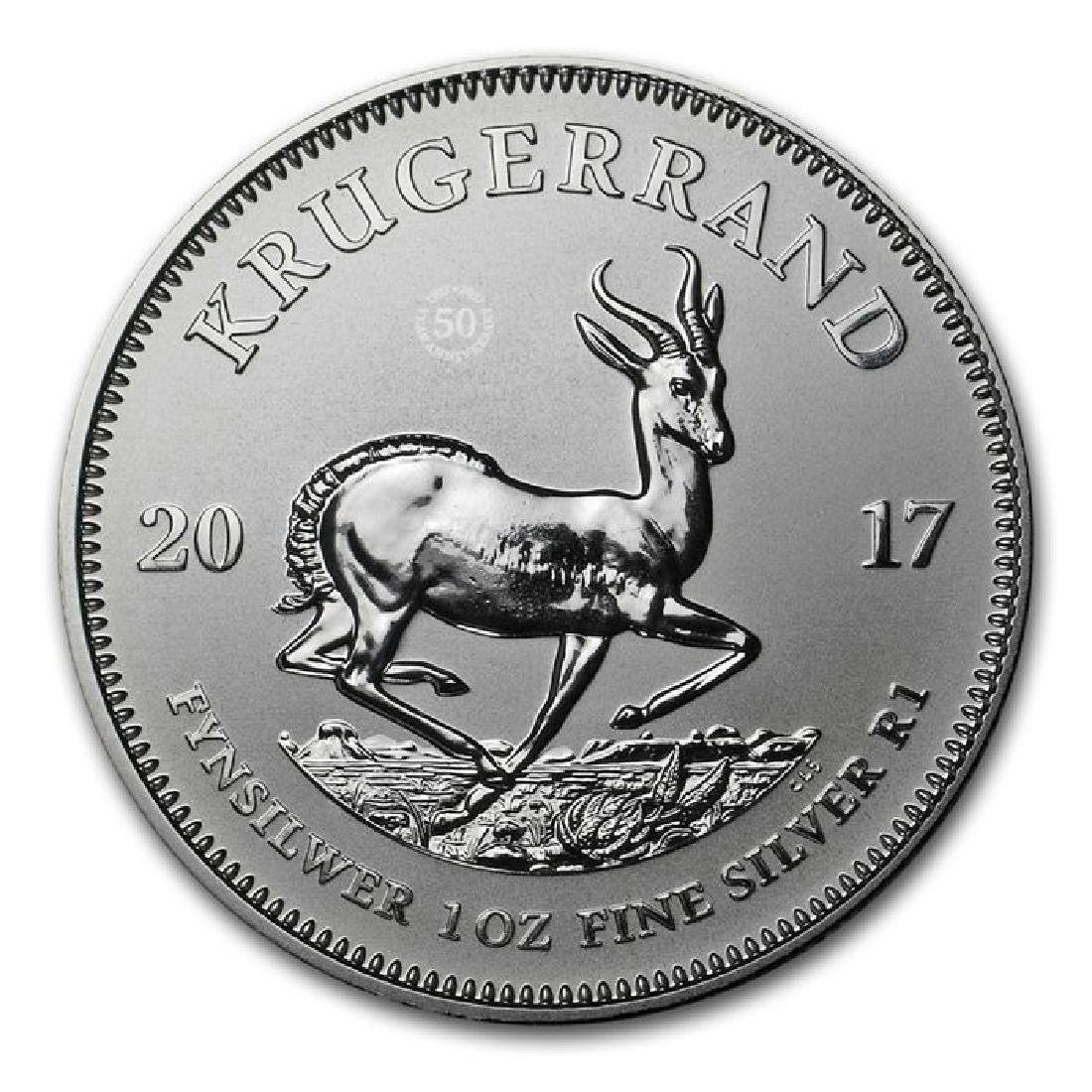Krugerrand 50th Anniversary 2017 1 Oz Silver - 4
