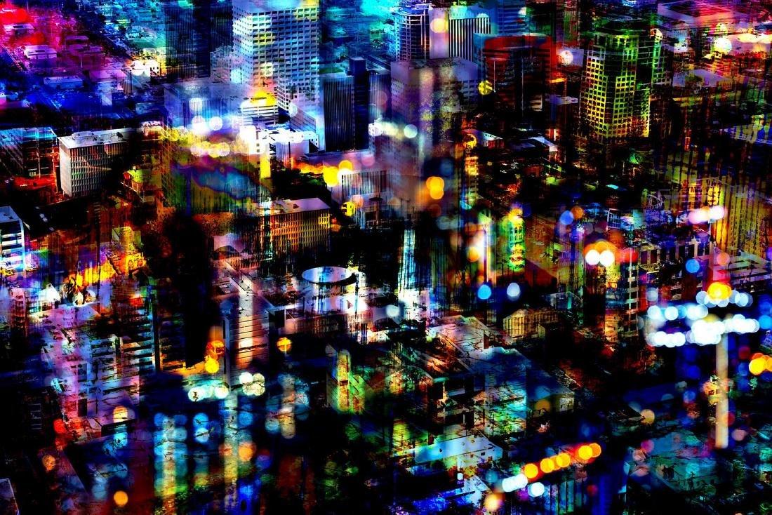 Thomas Bijen Print Bright Lights Big City | Platinum