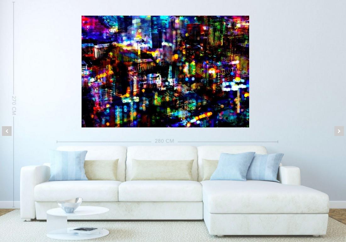 Thomas Bijen Print Bright Lights Big City | Platinum - 2