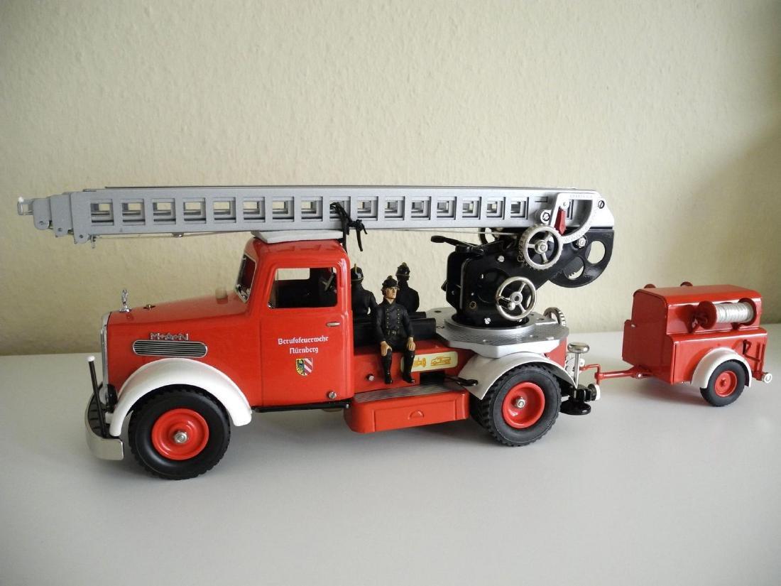 Schuco Fire Truck with trailer, c10
