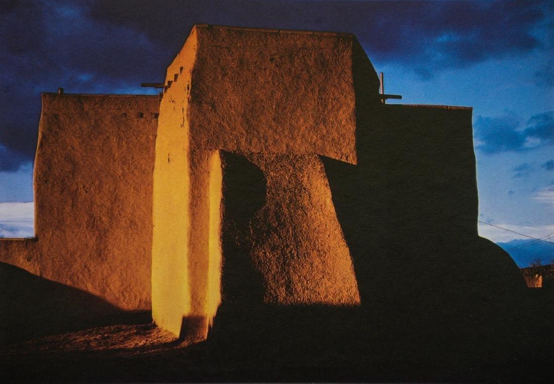 ANSEL ADAMS - St. Francis Church, Taos Pueblo, 1964