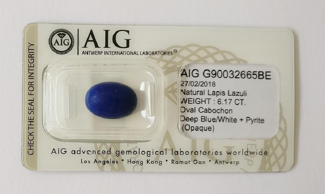 Naturel Lapis Lazuli Deep Blue/White + Pyrite 6.17 ct