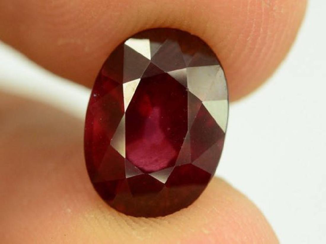 3.85 ct Natural Red Rhodolite Garnet