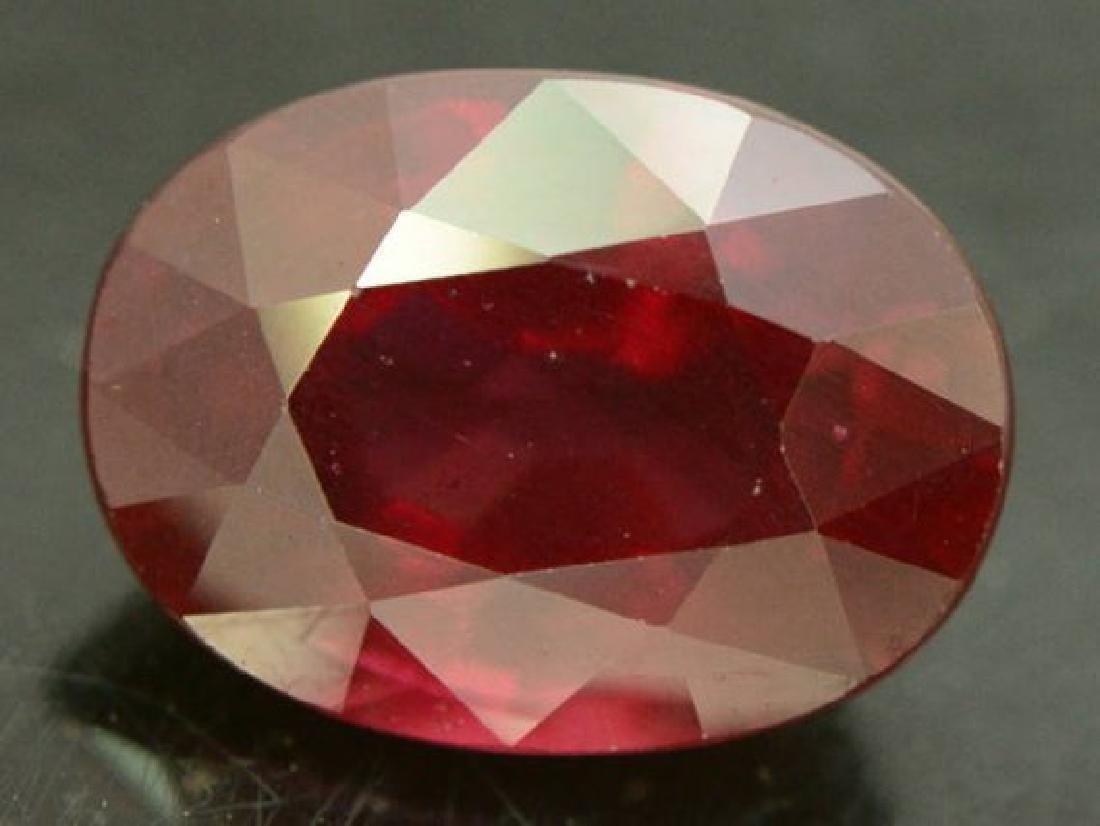 3.85 ct Natural Red Rhodolite Garnet - 3