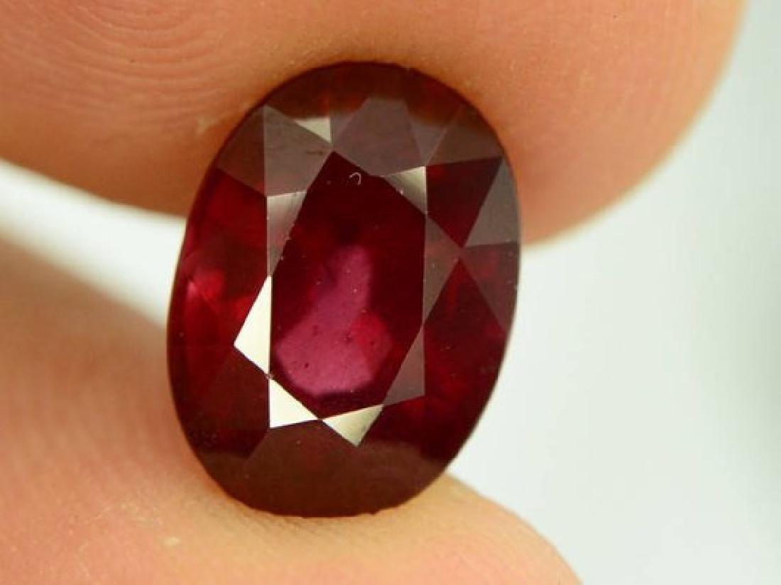 3.85 ct Natural Red Rhodolite Garnet - 4