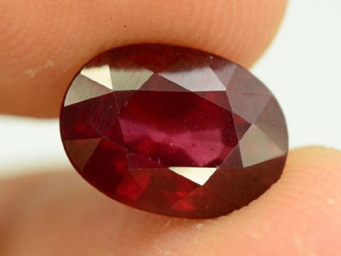 3.85 ct Natural Red Rhodolite Garnet - 5