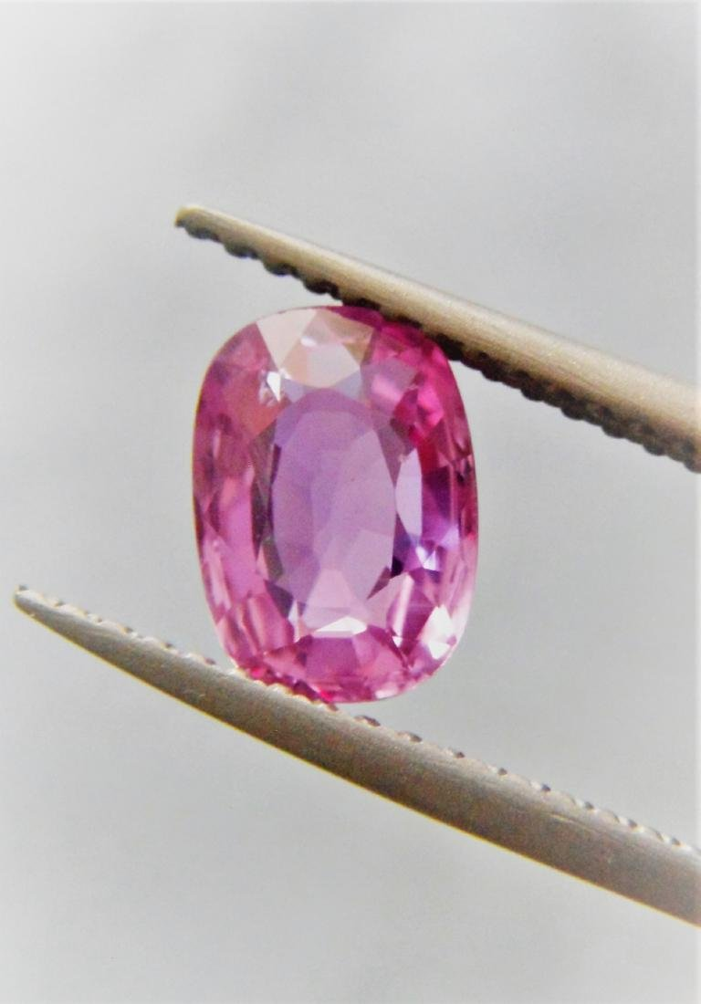 Pink sapphire 1.26 ct Unheated, Certfied