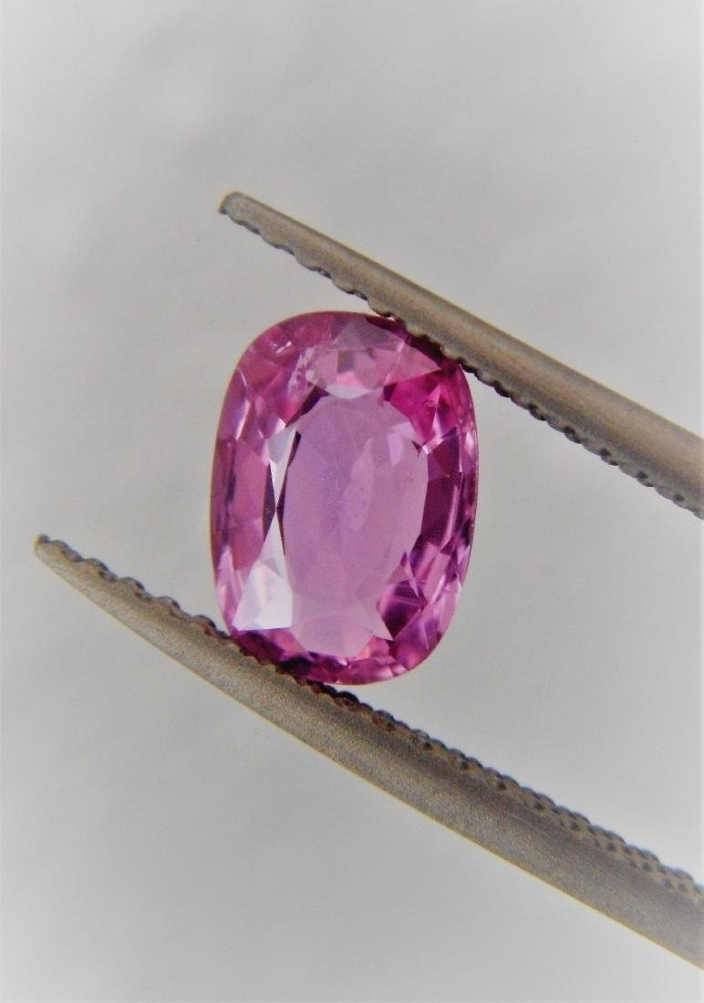 Pink sapphire 1.26 ct Unheated, Certfied - 3