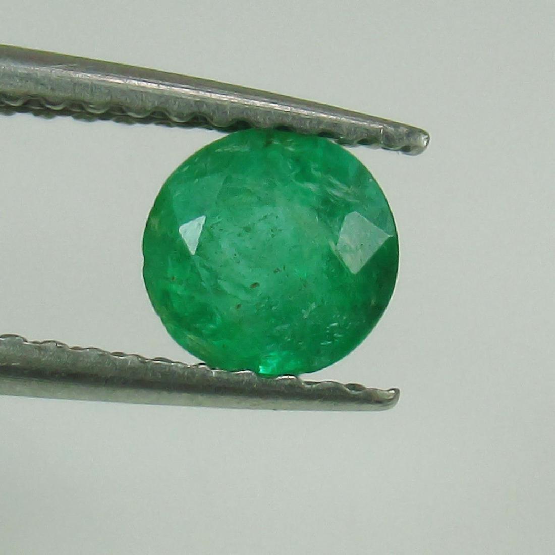 0.48 Ct Genuine Loose Zambian Emerald 5 mm Nice Round