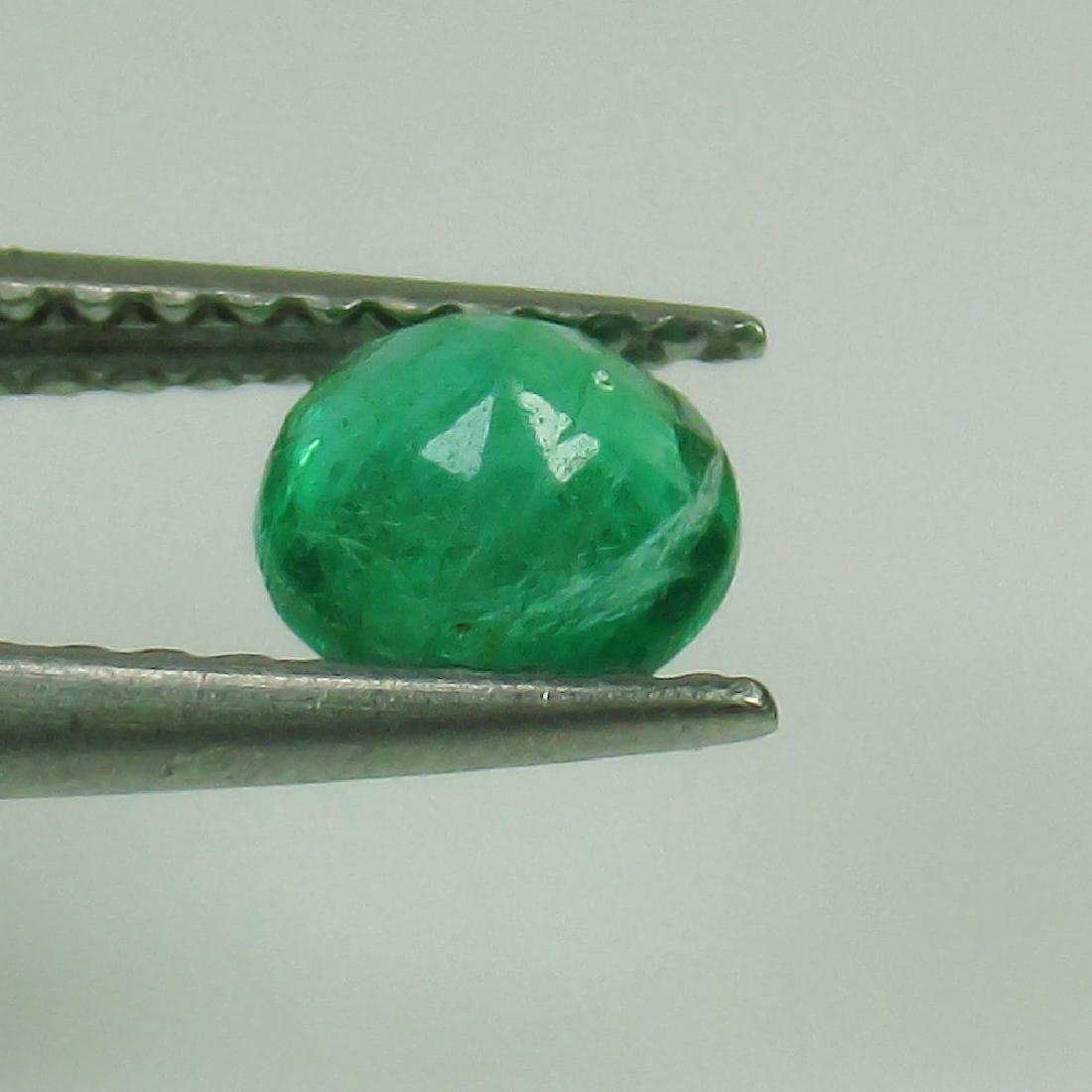 0.48 Ct Genuine Loose Zambian Emerald 5 mm Nice Round - 2