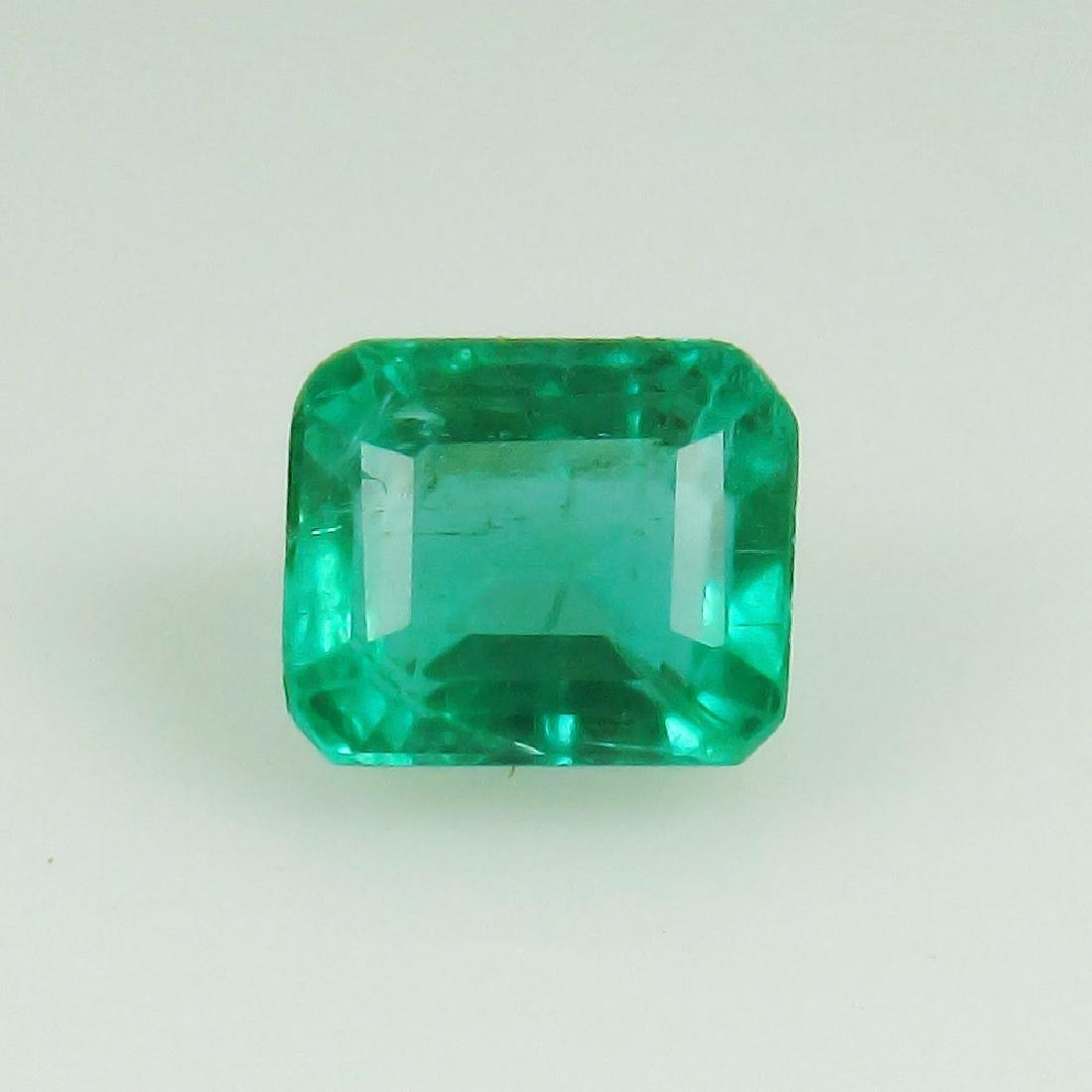 0.80 Ct Genuine Loose Emerald Octagon cut AAA Good
