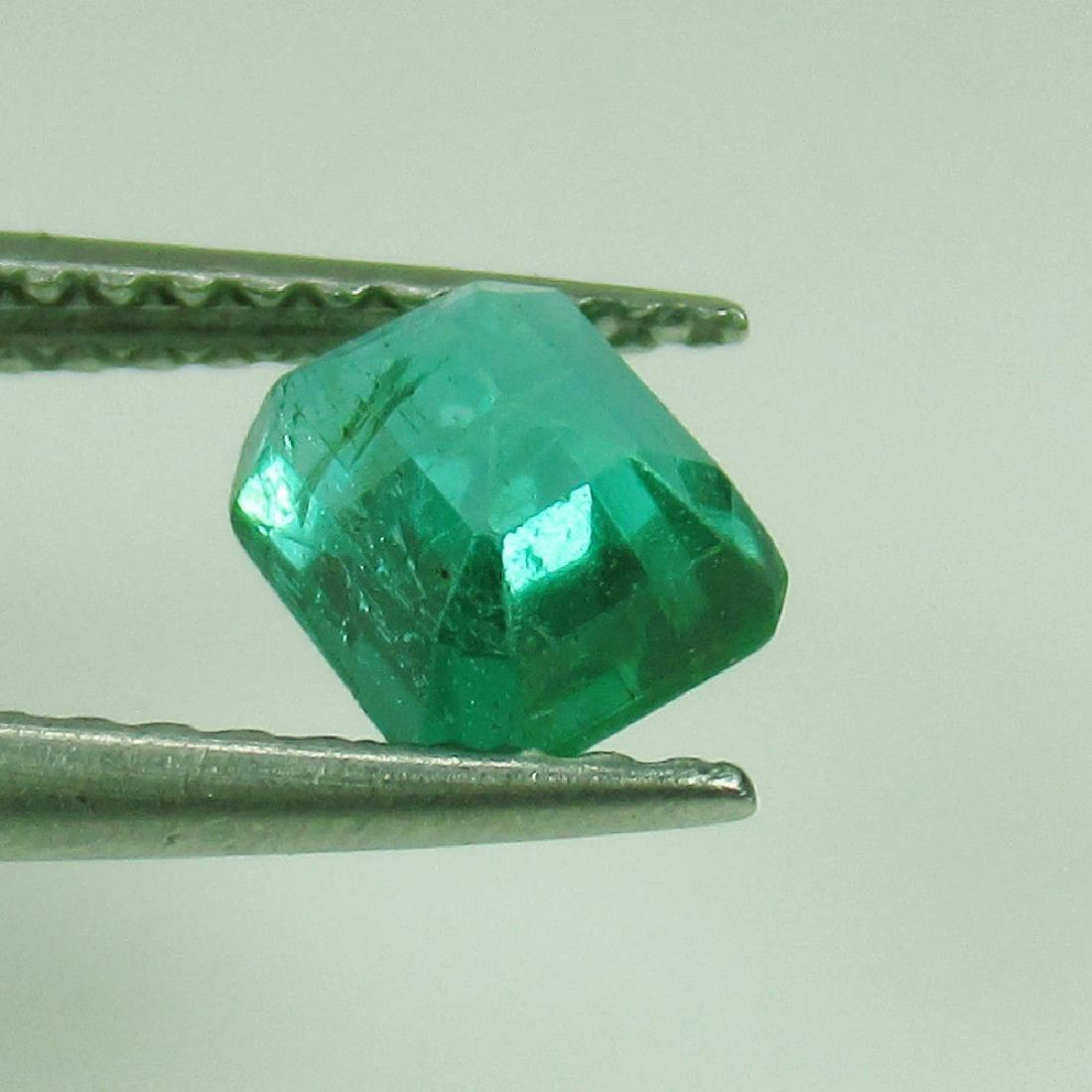 0.80 Ct Genuine Loose Emerald Octagon cut AAA Good - 3