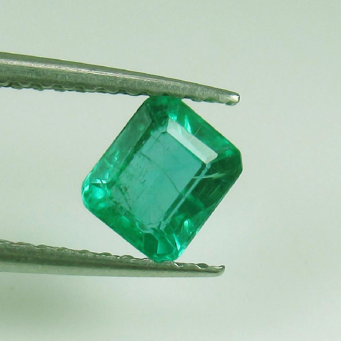 0.80 Ct Genuine Loose Emerald Octagon cut AAA Good - 4