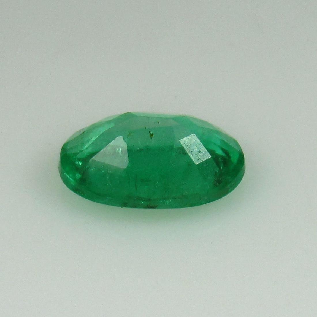 0.95 Ct Genuine Zambian Emerald 8X6 mm Oval cut Top - 3