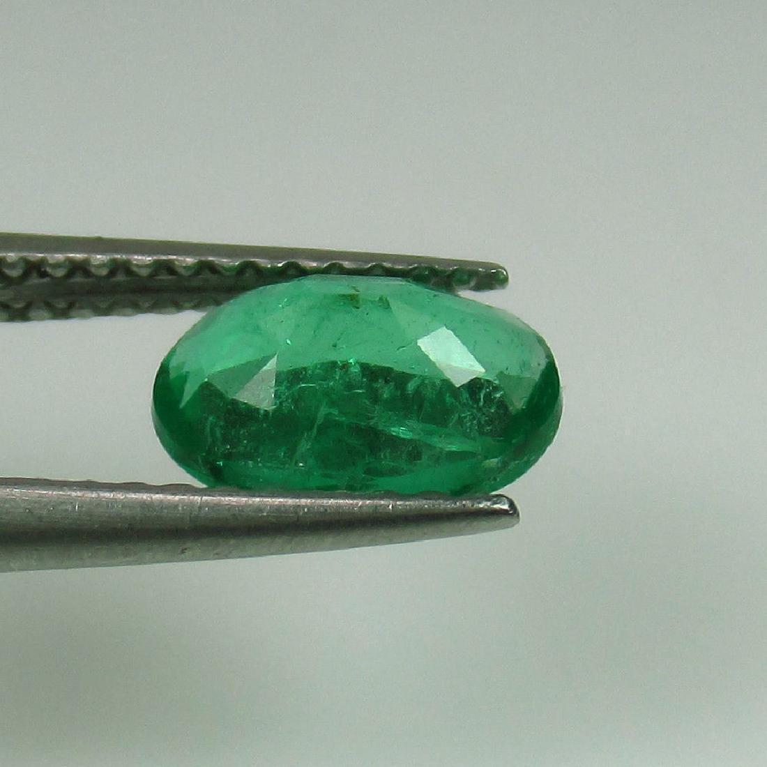 0.95 Ct Genuine Zambian Emerald 8X6 mm Oval cut Top - 4