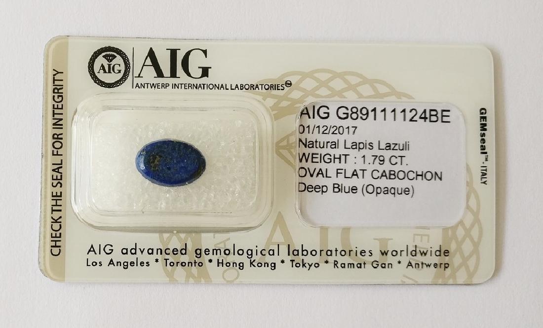 Natural Lapis Lazuli Deep Blue 1.79 ct