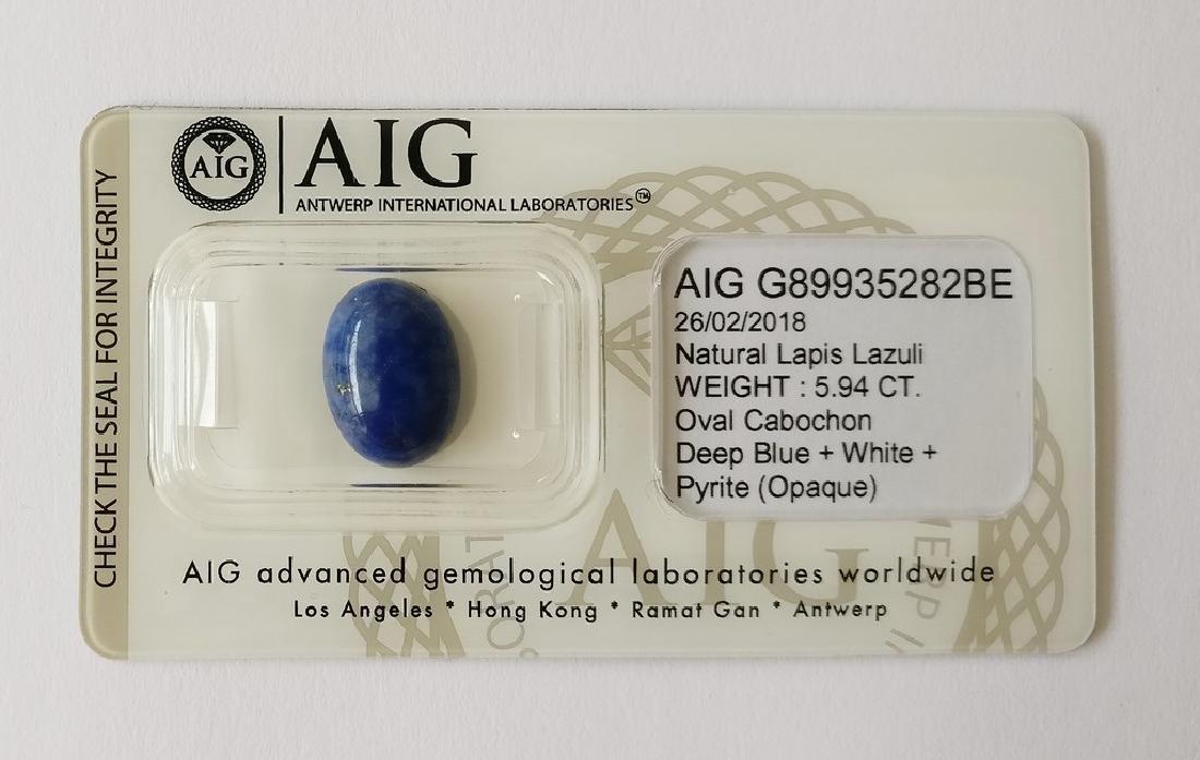 Natural Lapis Lazuli Deep Blue/White + Pyrite 5.94 ct
