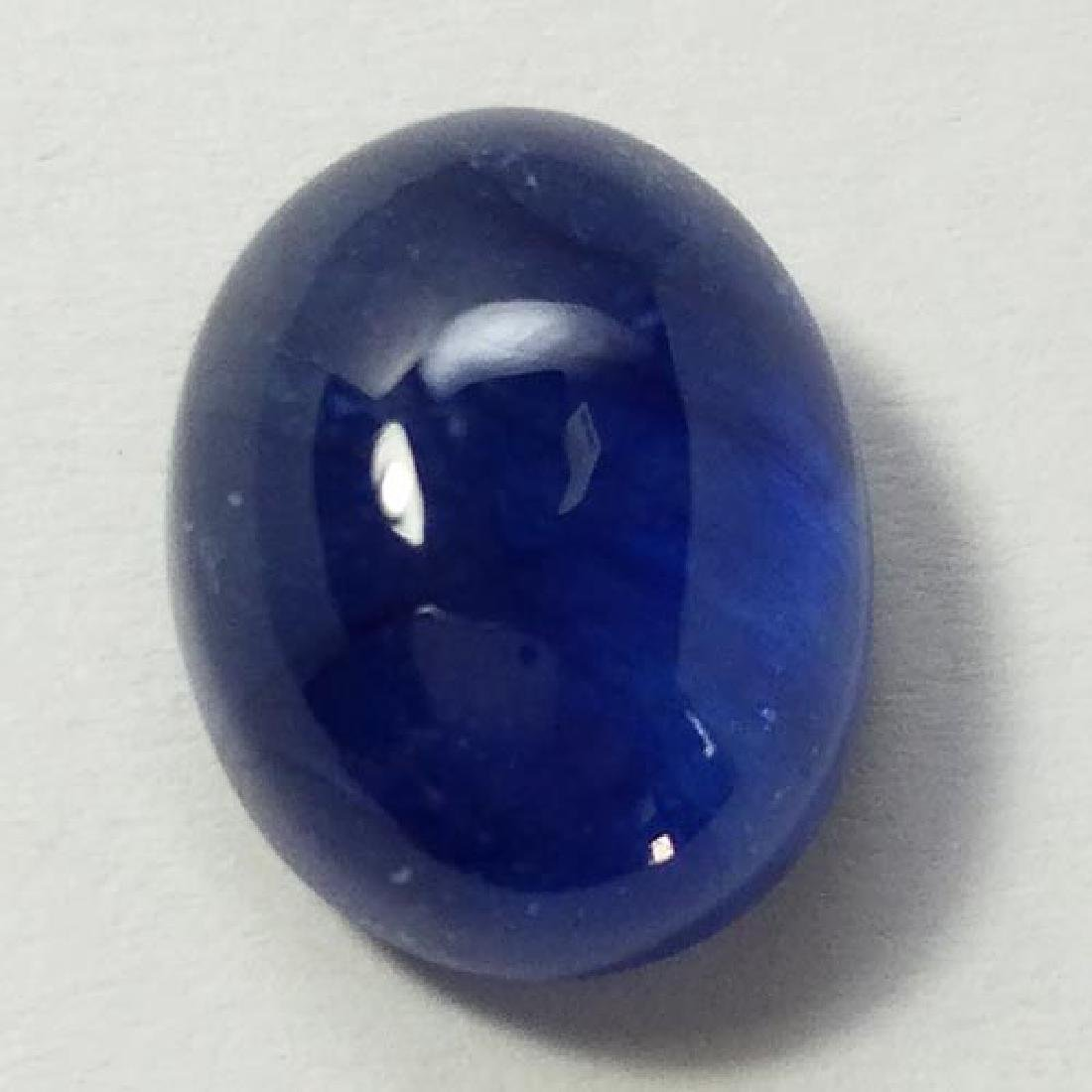 10.20Cts STUNNING LUSTER OVAL BLUE SAPPHIRE GLASS FILL - 3