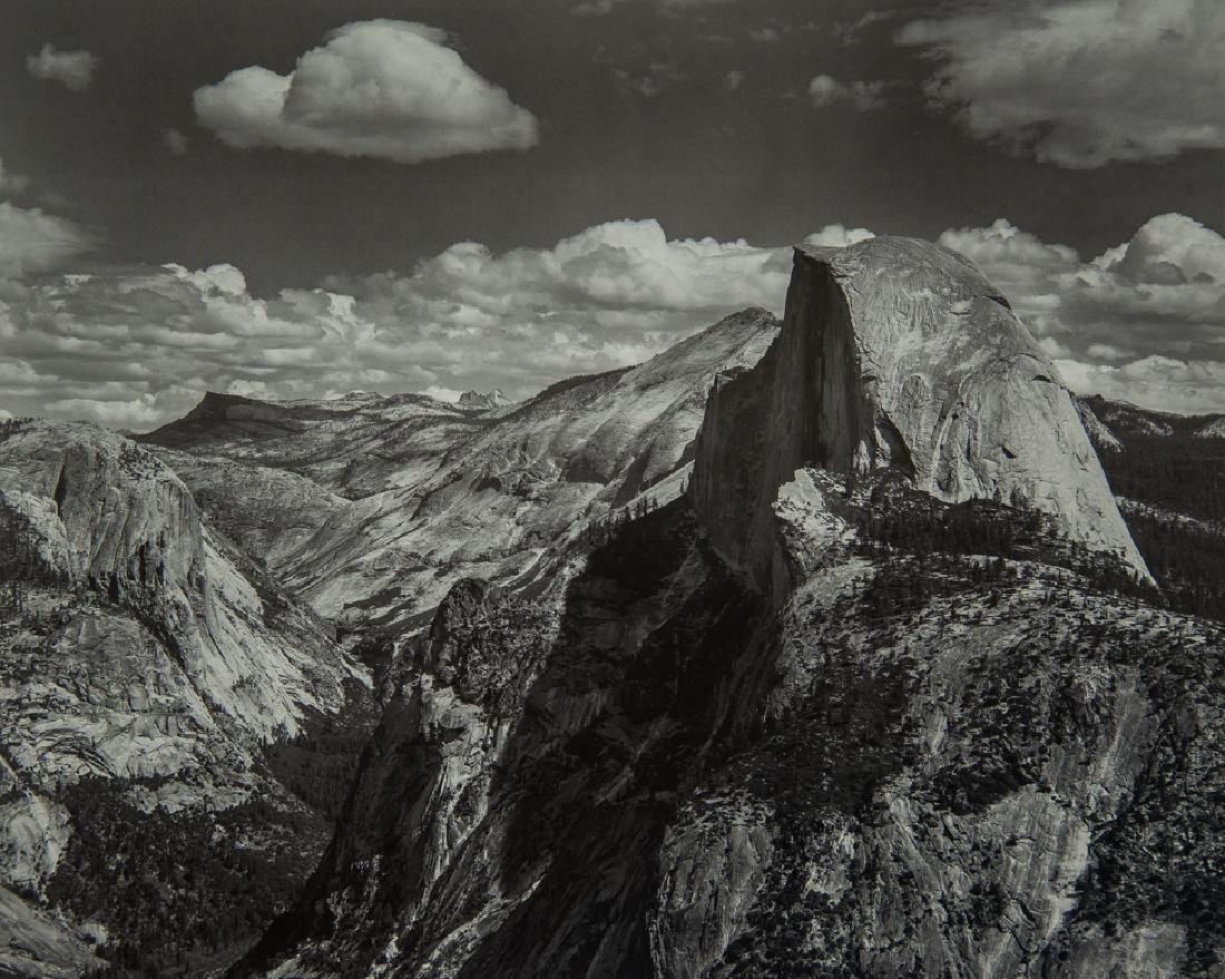 ANSEL ADAMS - Half Dome and Clouds, from Glacier Point