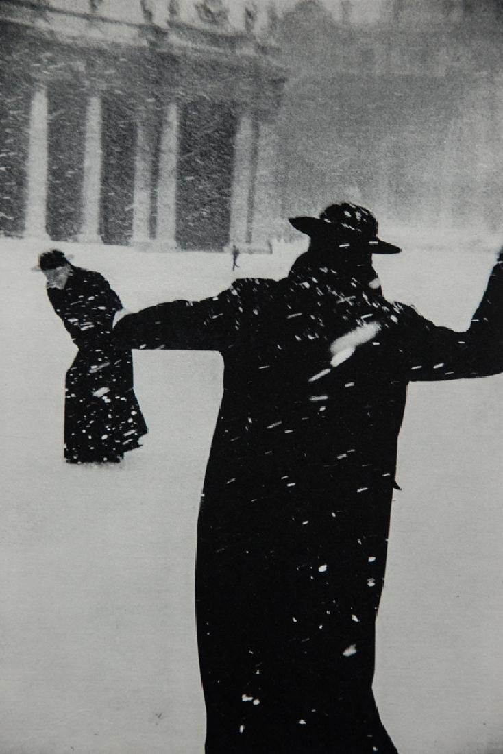 LEONARD FREED - The Snowball Fight, Rome, 1966