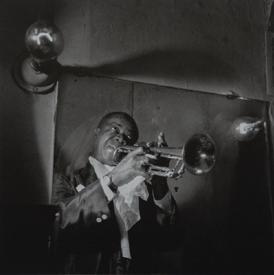 JEANLOUP SIEFF - Louis Armstrong, Paris, 1955