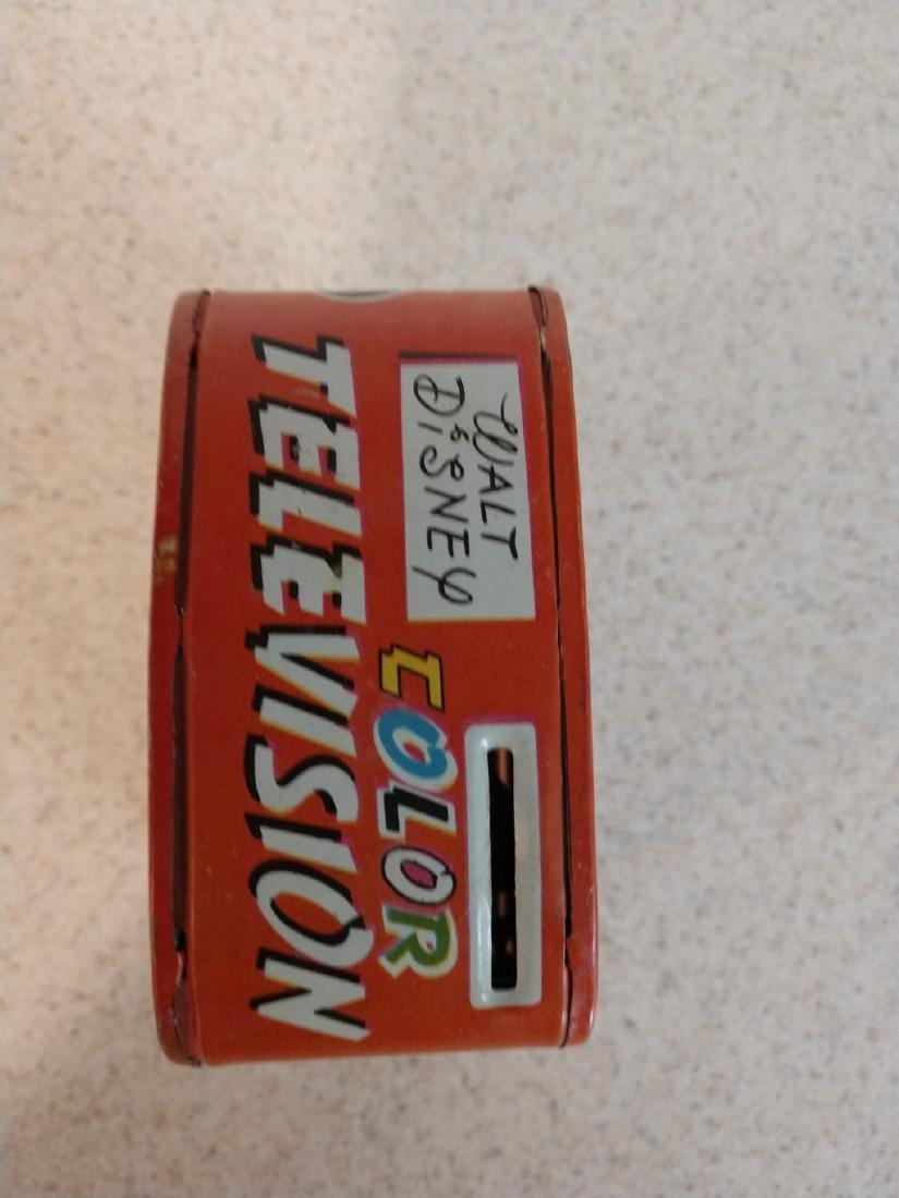 Walt Disney Color Television Bank tin mechanical toy - 3