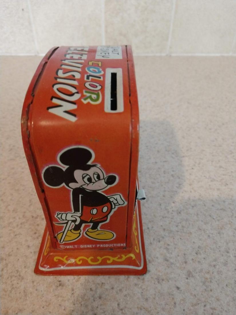 Walt Disney Color Television Bank tin mechanical toy - 4