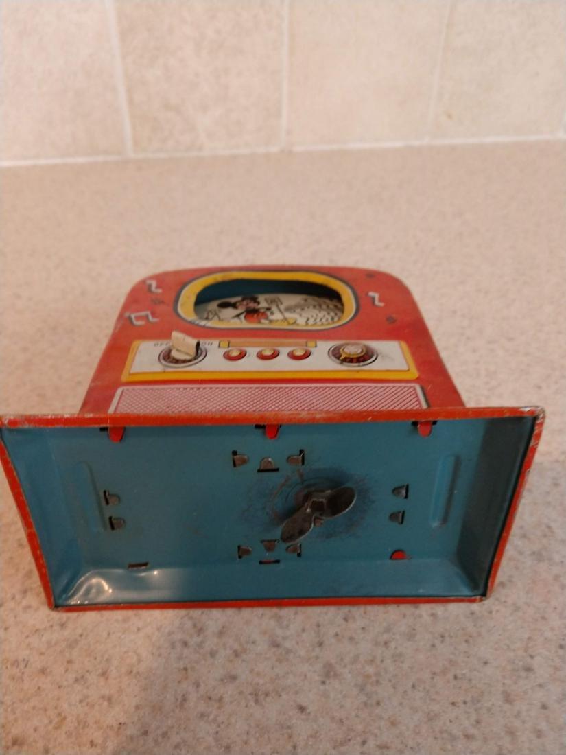 Walt Disney Color Television Bank tin mechanical toy - 5